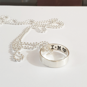 שרשרת לגבר עם טבעת תלויה