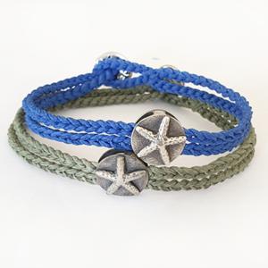 צמיד חוט צבעוני כוכב ים – יוניסקס