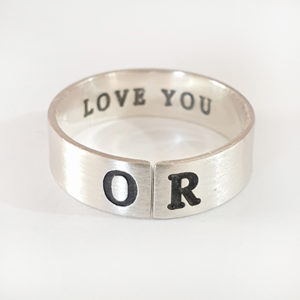 """טבעת גבר פתוחה ר""""ת"""