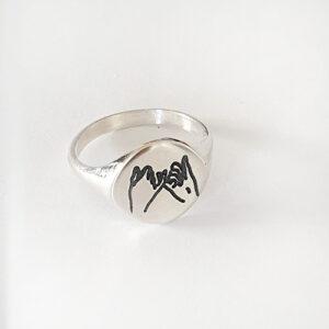 טבעת חותם פינקי