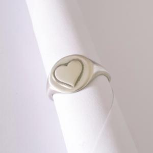 טבעת חותם לב הטבעה